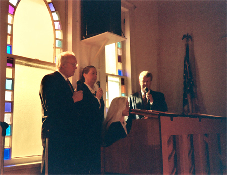 The Island Singers in Performance on Sunday November 10, 2002 at the 40th Anniversary Celebration of a Pentecostal Church in Port Washington in the Port Washington Assembly of God, NY